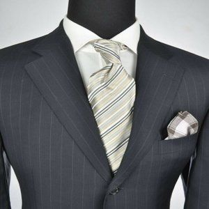 ZEGNA Navy 3Btn Suit